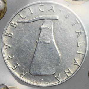 reverse: 5 lire 1956