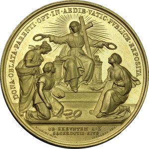 Leone XIII (1878-1903), Gioacchino Pecci.. Medaglia A. X, per l esposizione in Vaticano dei doni ricevuti per il Giubileo Sacerdotale