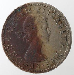 obverse: Monete Estere. Rhodesia And Nyasaland. 2 Shilllings 1956. Ae-Ni. qBB.