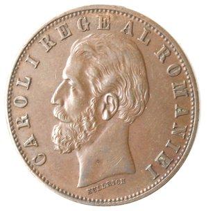 obverse: Monete Estere. Romania. Carlo I. 5 Bani 1885. Ae. qBB.