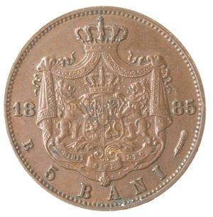 reverse: Monete Estere. Romania. Carlo I. 5 Bani 1885. Ae. qBB.