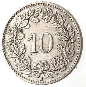 reverse: Monete Estere. Svizzera. 10 Rappen 1914. Ae-Ni. BB+.