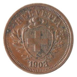 obverse: Monete Estere. Svizzera. Rappen 1903. Ae. BB.