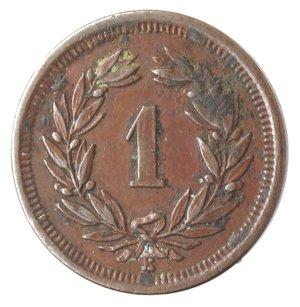 reverse: Monete Estere. Svizzera. Rappen 1903. Ae. BB.