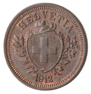 obverse: Monete Estere. Svizzera. Rappen 1912. Ae. qFDC. Rame rosso.