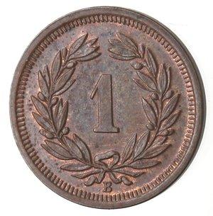reverse: Monete Estere. Svizzera. Rappen 1912. Ae. qFDC. Rame rosso.