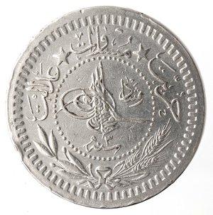 obverse: Monete Estere. Turchia. Muhammad VI. 40 Para 1912. Ae-Ni. SPL.