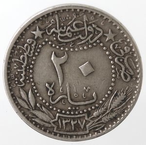 reverse: Monete Estere. Turchia. 20 Para. Ni. BB.
