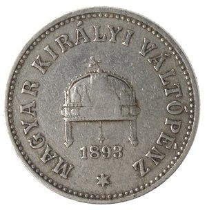 obverse: Monete Estere. Ungheria. Francesco  Giuseppe I. 10 Filler 1893. Ni. MB. Graffi.