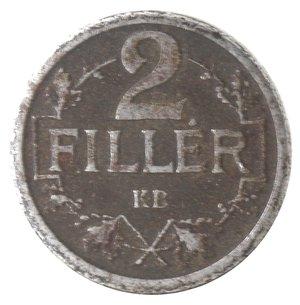reverse: Monete Estere. Ungheria. Carlo I. 2 Filler 1917. Fe. MB.