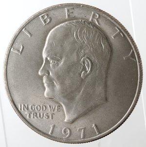 obverse: Monete Estere. Usa. Dollaro Eisenhower 1971. Ae-Ni. qSPL.