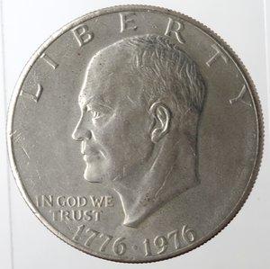 obverse: Monete Estere. Usa. Dollaro Eisenhower 1776-1976. Ae-Ni. BB+.