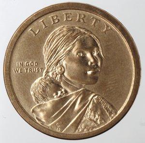 obverse: Monete Estere. Usa. Dollaro 2013. Trattato con i nativi. qFDC.
