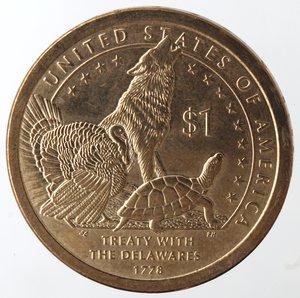 reverse: Monete Estere. Usa. Dollaro 2013. Trattato con i nativi. qFDC.