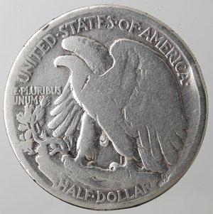 obverse: Monete Estere. Usa. Mezzo Dollaro Libertà 1917. Ag. qMB.