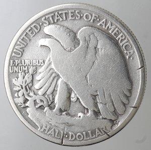obverse: Monete Estere. Usa. Mezzo Dollaro Libertà 1934. Ag. MB. Tagli al bordo.