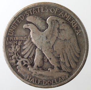 obverse: Monete Estere. Usa. Mezzo Dollaro Libertà 1943. Ag. MB.