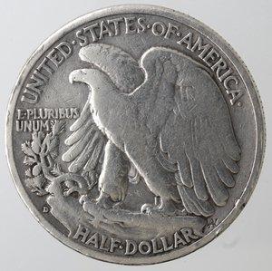 obverse: Monete Estere. Usa. Mezzo Dollaro Libertà 1943 D. Ag. MB.