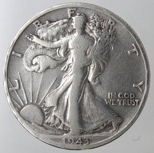 reverse: Monete Estere. Usa. Mezzo Dollaro Libertà 1943 D. Ag. MB.
