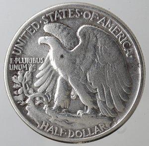 obverse: Monete Estere. Usa. Mezzo Dollaro Libertà 1944. Ag. MB+.