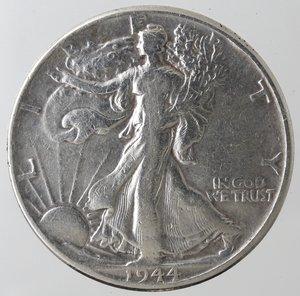 reverse: Monete Estere. Usa. Mezzo Dollaro Libertà 1944. Ag. MB+.