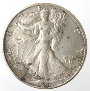 reverse: Monete Estere. Usa. Mezzo Dollaro Libertà 1946. Ag. MB.