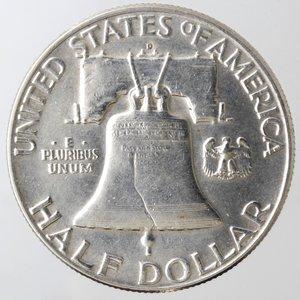 reverse: Monete Estere. Usa. Mezzo Dollaro Franklin 1950 D. Ag. qBB.