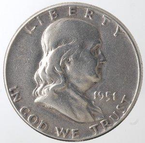 obverse: Monete Estere. Usa. Mezzo Dollaro Franklin 1951. Ag. BB.