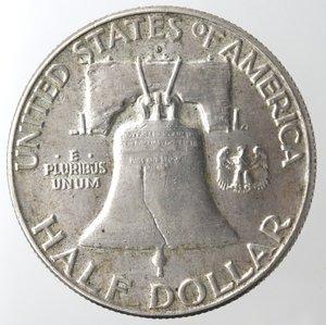 reverse: Monete Estere. Usa. Mezzo Dollaro Franklin 1963 D. Ag. BB.