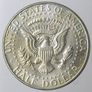 reverse: Monete Estere. Usa. Mezzo Dollaro Kennedy 1967. Ag 400. qSPL.