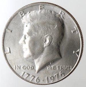 obverse: Monete Estere. Usa. Mezzo Dollaro Kennedy 1776-1976. Ae-Ni. qBB.