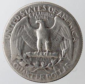 reverse: Monete Estere. Usa. Quarto di Dollaro Washington 1942. Ag. MB.