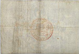 reverse: Banconote. Venezia. Moneta Patriottica da 5 Lire. 1848. qBB.