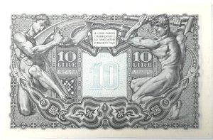 reverse: Banconote. Luogotenenza. 10 lire Giove. Dec. Min.  23-11-1944. Gig. BS19C. FDS.