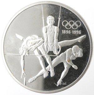 reverse: Monete Estere. Canada.Elisabetta II.15 Dollari 1992. Ginnastica. AG 925. Km. 216. Peso gr. 33,90. Diametro mm. 38.FDC Proof.Patina.
