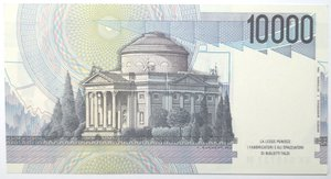 reverse: Banconote. Repubblica Italiana. 10.000 lire Alessandro Volta. 1998. Gig. BI76K. FDS.