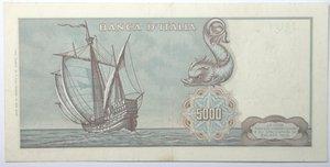 reverse: Banconote. Repubblica Italiana. 5.000 lire Colombo. 1° tipo. Dec. Min. 20-01-1970. Gig. BI66C. Banconota con pieghe stirate, nel complesso BB/BB+.