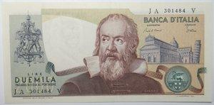 obverse: Banconote. Repubblica Italiana. 2.000 lire Galilei. Dec Min. 24.10.1983. Gig. BI59C. Banconota con piega centrale altrimenti FDS.