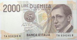 obverse: Banconote. Repubblica Italiana. 2.000 lire Marconi. 1990. GigBI60A. FDS.