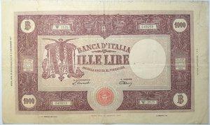 obverse: Banconote. Repubblica Italiana. 1.000 lire Grande M. (Medusa). Dec. Min. 22-11-1947. Gig. BI52A. Banconota trattata con rottura centrale. Nel complesso MB/qBB.