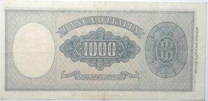 reverse: Banconote. Repubblica italiana. 1.000 lire Italia Ornata di Perle (Medusa). Dec. Min.  10-02-1948. Gig. BI54B. qBB. Pieghe stirate e foro nell ovale.