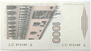 reverse: Banconote. Repubblica Italiana. 1.000 lire Marco Polo. Dec. Min. 8-01-1082. Gig. BI57A. SPL.