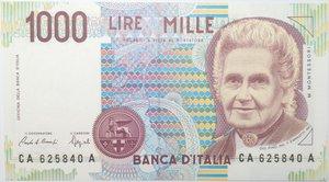 obverse: Banconote. Repubblica Italiana. 1.000 lire Montessori. 1990. Gig. BI58A. FDS.