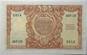 reverse: Banconote. Repubblica Italiana. 100 lire Italia Elmata. Dec. Min. 31-12-1951. Gig. BS24A. BB+/qSPL.