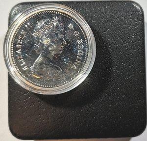 obverse: Monete Estere. Canada.Elisabetta II.Dollaro 1979. Griffin. AG 500. Km. 123. Peso gr. 23,35. Proof.