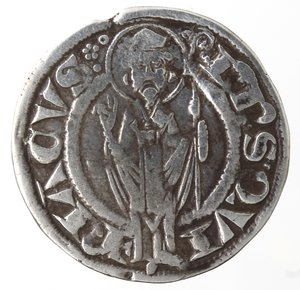 reverse: Zecche Italiane. Ancona. Repubblica, monetazione autonoma. Grosso Agontano. XII e XIII secolo. Ag. Peso gr. 2,32. Diametro mm. 22. BB.