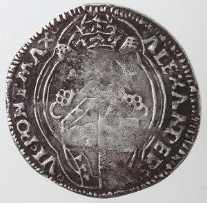 obverse: Zecche Italiane.Ancona. Alessandro VI. 1492-1503. Grosso. Ag?. Muntoni 22. Peso gr. 3,07. Diametro mm. 27,50. Schiacciature altrimenti BB. FALSO. FAKE COIN. RRR.