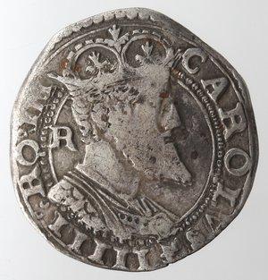 obverse: Zecche Italiane. L Aquila. Carlo V. 1519-1556. Carlino. Ag. MIR 120. Peso gr. 2,97. Diametro mm. 24. BB. NC.