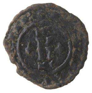obverse: Zecche Italiane. Brindisi. Carlo I d'Angiò.1266-1285.Denaro. MI.D/ K. R/ Croce, nei quarti gigli. Sp.31. Peso 0,75 gr.BB. R.