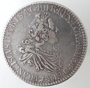 obverse: Zecche Italiane. Firenze. Francesco III. 1737-1765. Francescone 1747. Ag. Peso gr. 27,08. Gal. XII/1.  qBB. R.